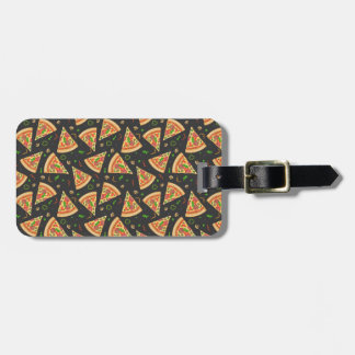 Pizza slices background luggage tag