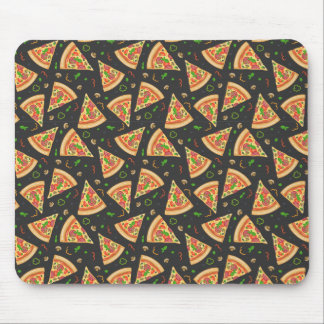 Pizza slices background mouse pad