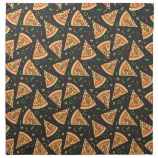 Pizza slices background napkin