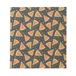 Pizza slices background notepad