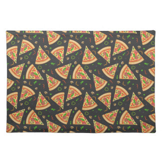 Pizza slices background placemat