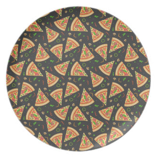 Pizza slices background plate