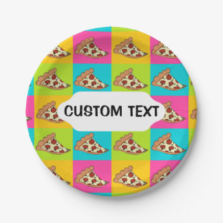 Pizza slices custom paper plate