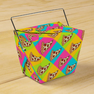 Pizza slices takeout container box favor box