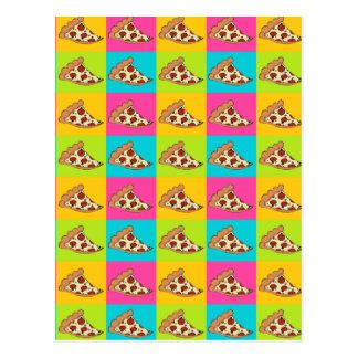 Pizza slices tiled design postcard