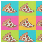 Pizza slices tiled fabric