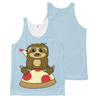 Pizza Sloth All-Over-Print Tank Top