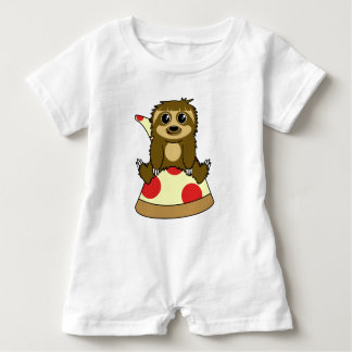 Pizza Sloth Baby Romper