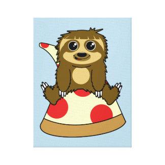 Pizza Sloth Canvas Print