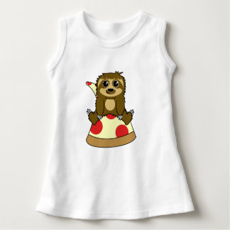 Pizza Sloth Dress