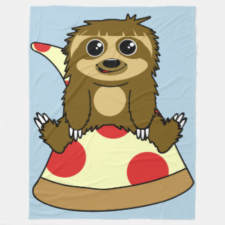 Pizza Sloth Fleece Blanket