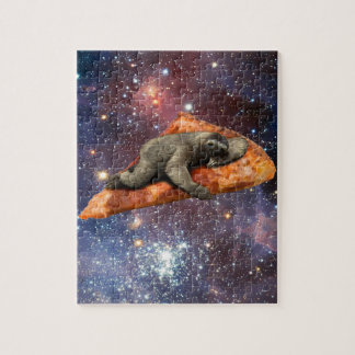 Pizza Sloth In Space Jigsaw Puzzle