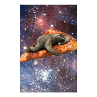 Pizza Sloth In Space Stationery