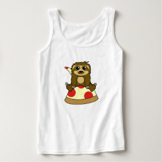 Pizza Sloth Tank Top