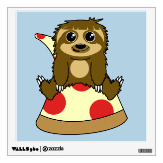 Pizza Sloth Wall Decal