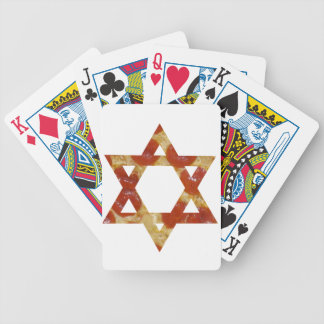 pizza star of david bicycle playing cards