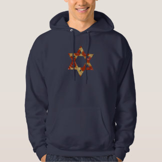 pizza star of david hoodie