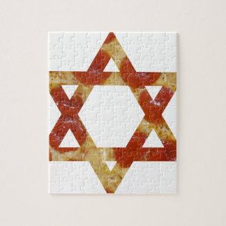pizza star of david jigsaw puzzle
