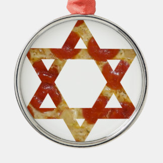 pizza star of david metal ornament