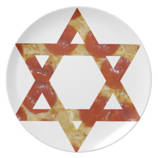 pizza star of david plate