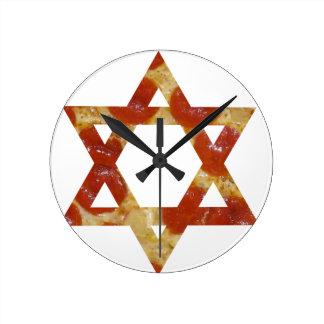 pizza star of david round clock