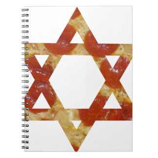pizza star of david spiral notebook