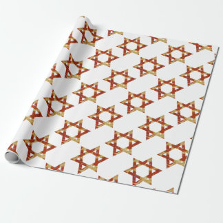pizza star of david wrapping paper