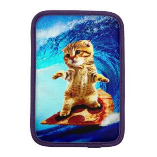 Pizza Surfing Cat iPad Mini Sleeves