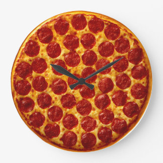 Pizza Time Large Clock