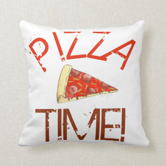 Pizza Time Pepperoni NYC Cheese Slice Italian Food Throw Pillow
