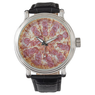 Pizza time timepiece watch