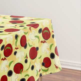 Pizza Toppings Pattern Tablecloth