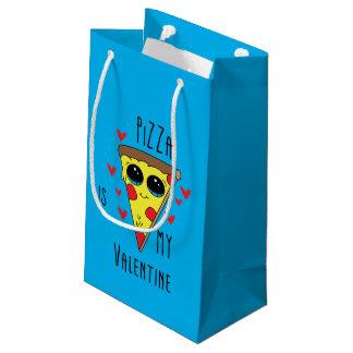 Pizza Valentine Emoji Small Gift Bag