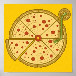 Pizza Vinyl Poster