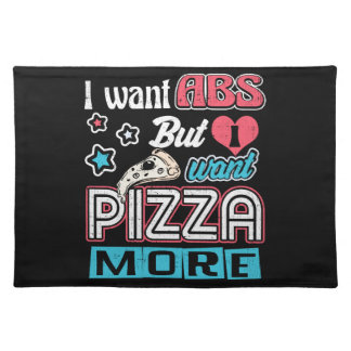 Pizza vs Abs - Bulking Diet - Funny Carbs Novelty Placemat