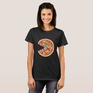 Pizza with Missing Slice Matching Couples T-Shirt