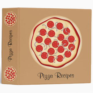 Pizza with tomatoes and onions vinyl binders