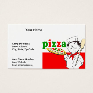 Pizzaiolo and Pizza Business Card