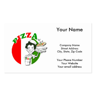 Pizzaiolo and Pizza Pack Of Standard Business Cards