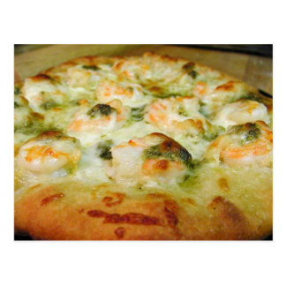Pizzas Cheese Pesto Shrimp Postcard