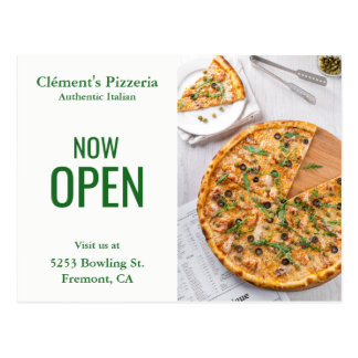 Pizzeria Opening   Now Open   Direct Mail Postcard
