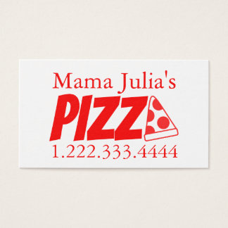 Pizzeria Red Banger Business Card