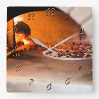 Pizzeria Square Wall Clock