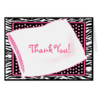 PJ Party in Pinks Thank You Card