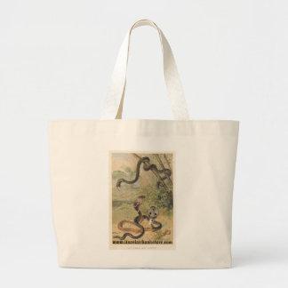 PJ Smith - Rat-Snake & Cobras Large Tote Bag