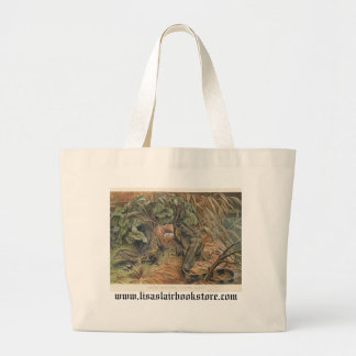 PJ Smith - Water Monitors Robbing A Nest Large Tote Bag