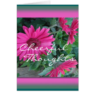 Pk Gerber Daisy Card-customize any occasion Card