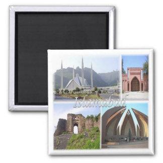 PK * Pakistan - Islamabad Pakistan Square Magnet
