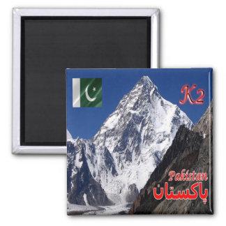 PK - Pakistan - Peak K2 Square Magnet