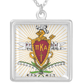 PKA Crest Color Weathered Silver Plated Necklace